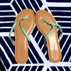 Banana Republic cute turquoise / tan sandals